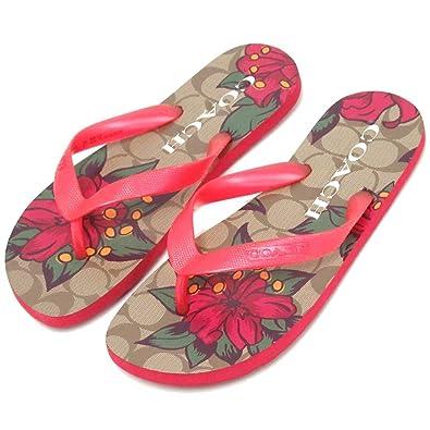 9ac92377fab603 コーチ 靴 サンダル COACH アウトレット ハワイ プリント フィリップ フロップ レディース サンダル FG2607 DQ4 [並行輸入
