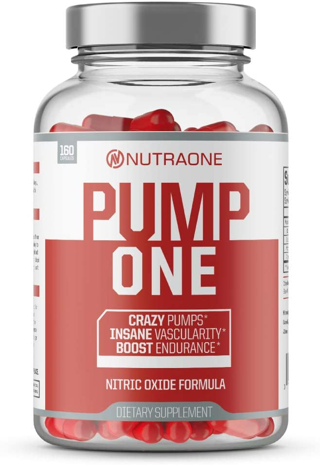 PumpOne Nitric Oxide Pump Supplement by NutraOne – with L-Citrulline and Beta-Alanine (160 Capsules)