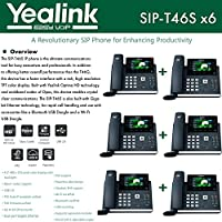 Yealink IPPhone SIP-T46S 6-Pack Optima HD USB Dongle PoE 16 VoIP accounts