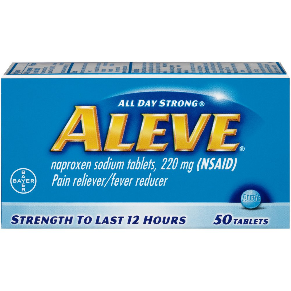 Aleve Pain Reliever/Fever Reducer Tablets, 50 ea
