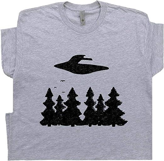 UFO Dinosaurs /& Aliens Tshirt Fitted Ladies Ancient Aliens