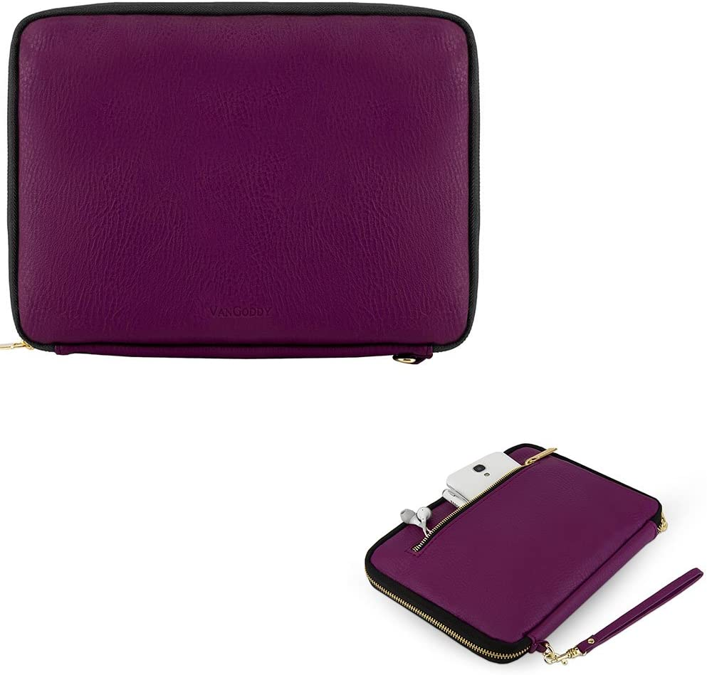 Fashion PU Leather Tablet Sleeve Pouch Carrying Case Cover 7 to 8 Inch for Apple iPad Mini 4, Nextbook Ares 8, Pandigital Novel 7 Inch, Samsung Galaxy Tab S2 8.0, Purple