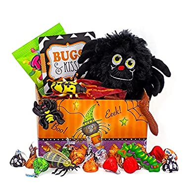 Bugs and Kisses Halloween Candy Chocolate Hershey Kisses Jack O Lantern Gift Basket