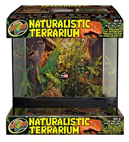 Zoo Med Laboratories SZMNT3 Naturalistic Terrarium, Large (18'' X 18'' X 18'') by Zoo Med