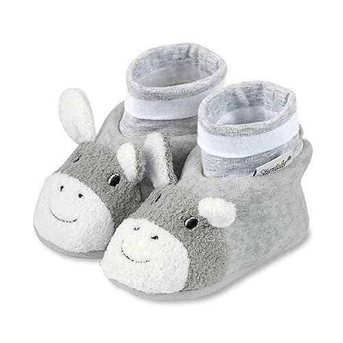 Sterntaler Baby Shoes Erik, Zapatillas de Estar por casa para Bebés, Plateado (Silver