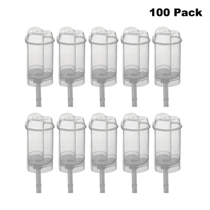 760a3d791efb Clear Push-Up Cake Pop Shooter (Push Pops) Plastic Containers Pack of 100  (100 pack Heart)