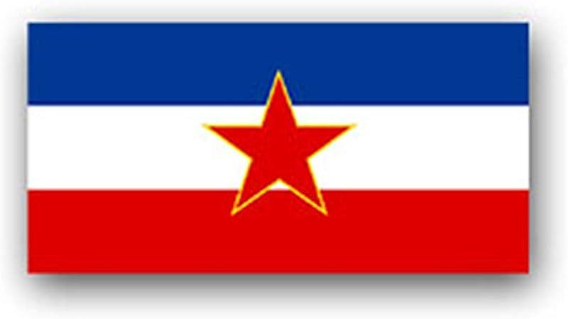 SFR A3039 - Pegatina (7 x 3 cm), diseño de Bandera de Yugoslavia: Amazon.es: Coche y moto