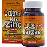 Nature's Plus, Source of Life, Animal Parade, Kid Zinc Lozenges, Natural Tangerine Flavor, 90 Animals - 2pc