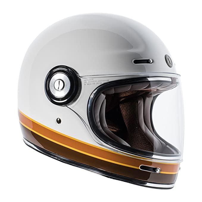 Amazon.com: TORC T1 Retro Unisex-Adult Full-Face-Helmet-Style Motorcycle Helmet with Graphic (ISO Bars Gloss White,X-Large), 1 Pack: Automotive