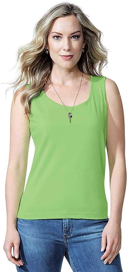 Womens Ladies Solid 100/% Cotton Tank Top Mint Black Grey Pink #TT302