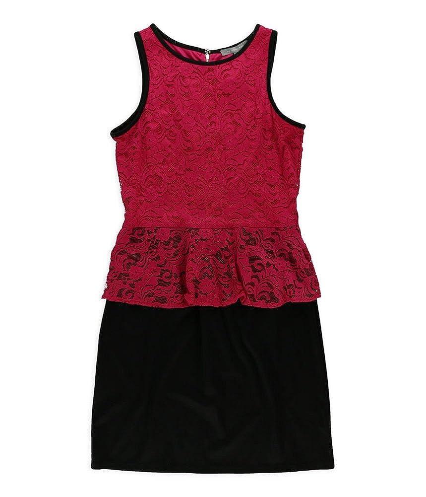 NY Collection Womens Peplum Sheath Dress
