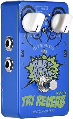 BIYANG RV-10 Baby Boom Tri Reverb Pedal