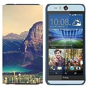 TECHCASE---Cubierta de la caja de protección para la piel dura ** HTC Desire Eye ( M910x ) ** --Gran Acantilado Lago