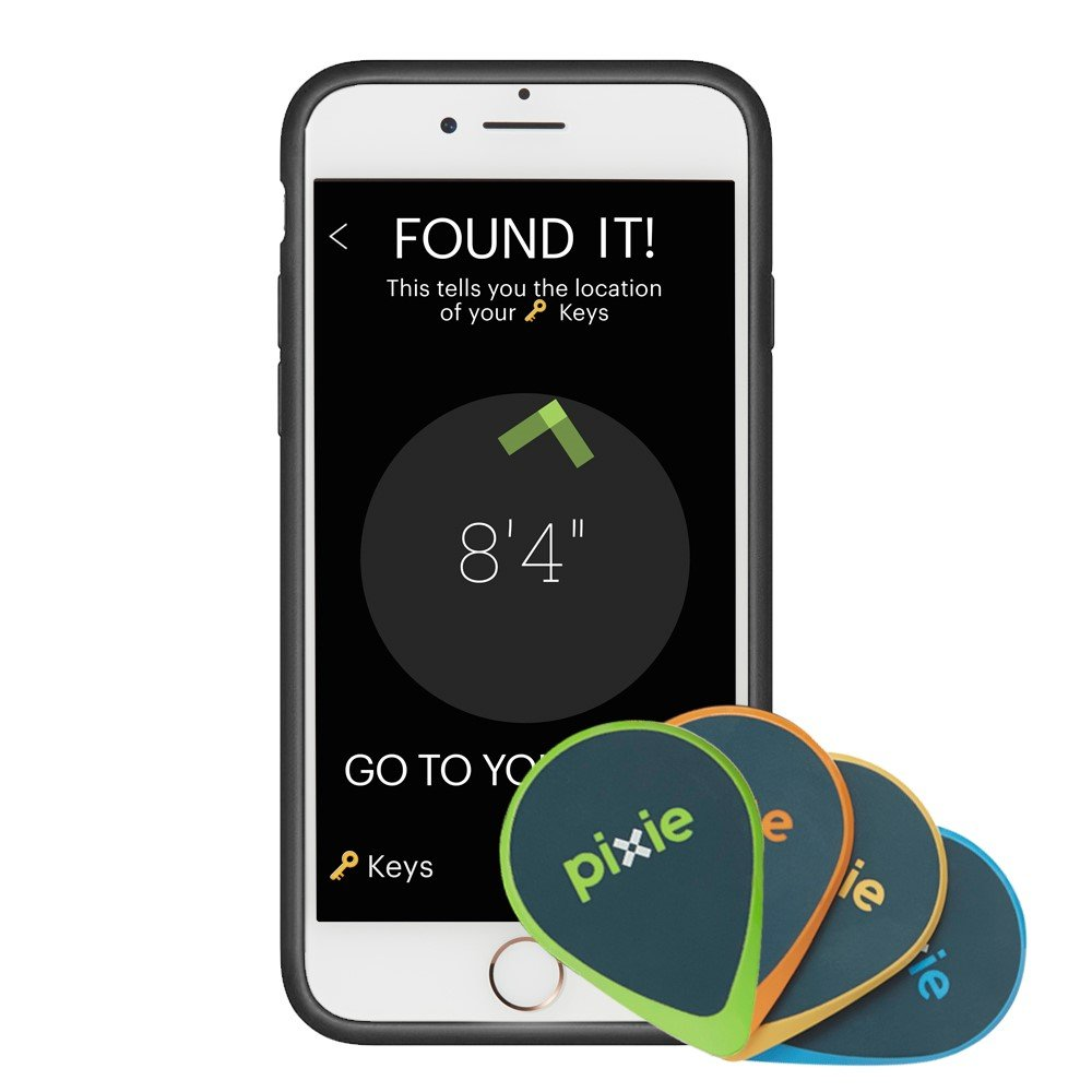 Pixie 2-pack Luggage Find your lost items faster by SEEING where they are Lost item tracker//finder for Keys iPhone 7 case included Wallet