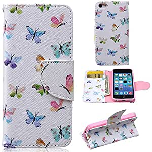 iPhone 5S Case,iPhone 5S Leather Case,Leather For iPhone 5 5S Case,Candywe iPhone Accessories [PU] [Wallet] Style Printed Design for iPhone 5 5S #3