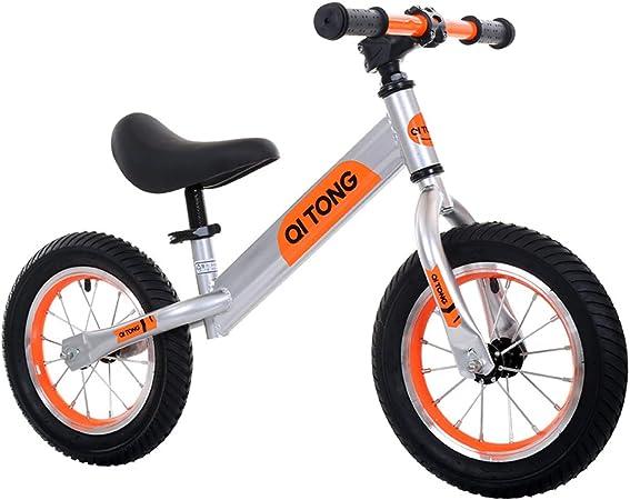 Bicicleta de Equilibrio para niños de 12 Pulgadas con pies, sin Pedal bebé Mini Bicicleta para 1-5 años, Push Bike para Actividades al Aire Libre para niños pequeños,Orange: Amazon.es: Hogar