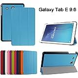 """Samsung Galaxy Tab E 9.6 Ultra Custodia,Mama Mouth Ultra sottile di peso leggero con supporto in Piedi caso Case per 9.6"""" Samsung Galaxy Tab E 9.6 T560 T561 Android Tablet,Azzurro"""
