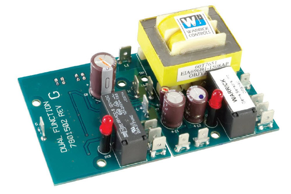 Warrick DFM1C0 Dual Function Open Circuit Board Control with Screw Mount Standoff, 26K ohms Inverse Sensitivity, 120 VAC Voltage