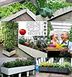 1 Unit INCHANT Vegetable Raised Garden Bed Outdoor Balcony Vegetable Planter Grow Flower Planter Backyard Patio Elevated garden Planter With Water Storage and Universal Wheels for Easily Move