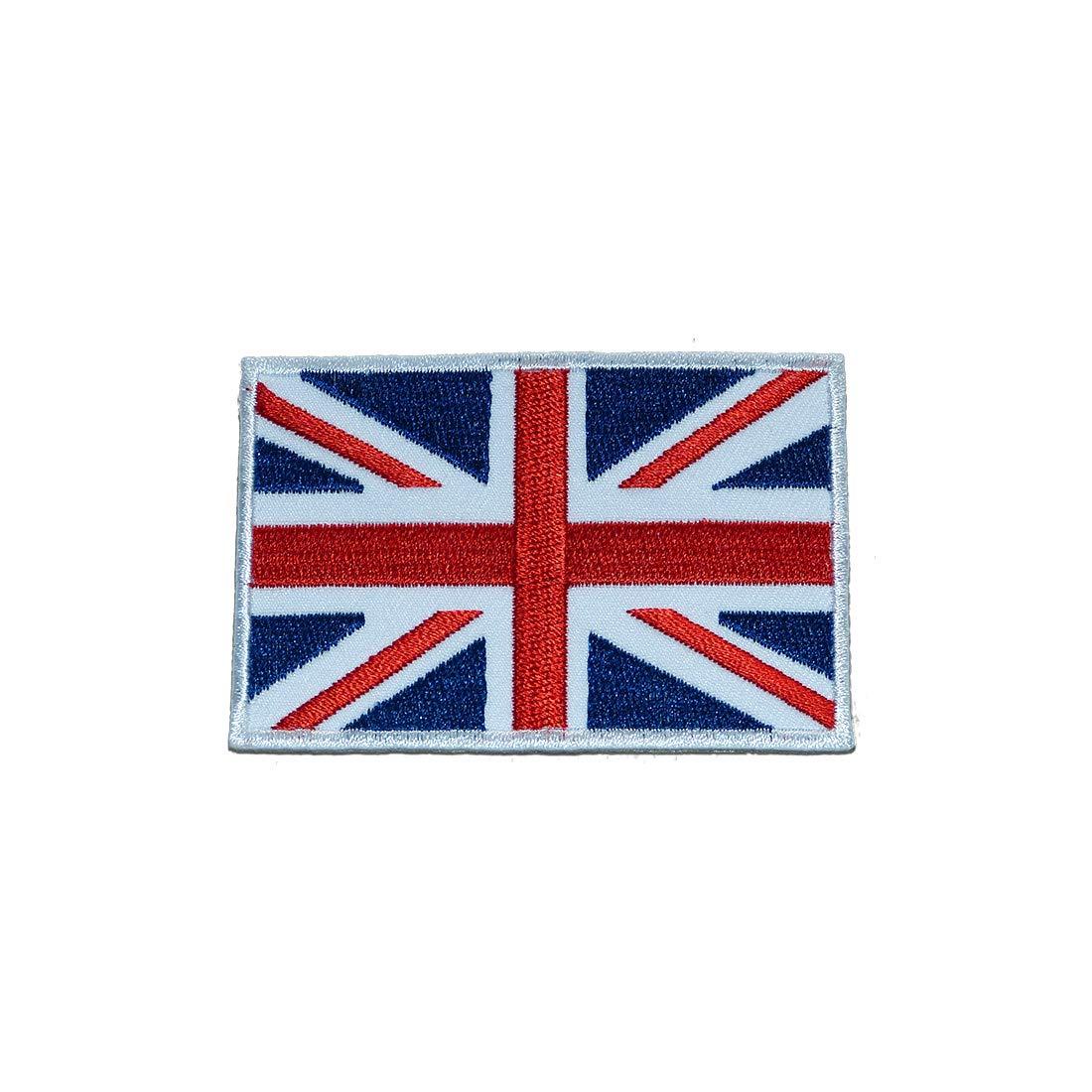 weiß USA ARMY Flagge Fahne 7,5 x 4,7 cm Aufnäher // Bügelbild