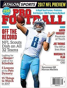 Athlon Sports 2017 Pro Football Tennessee Titans Preview Magazine