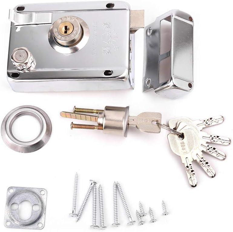 Lamdoo Cerraduras antirrobo de Seguridad del Kit de Cerradura de la Puerta Exterior con Seguro m/últiple Derecha