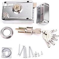 TRUUA Pack de 20 Ojo de la Cerradura de la Forma Redonda Soportes Ganchos de Metal Marco de Imagen Estante Espejo 25mm Dia