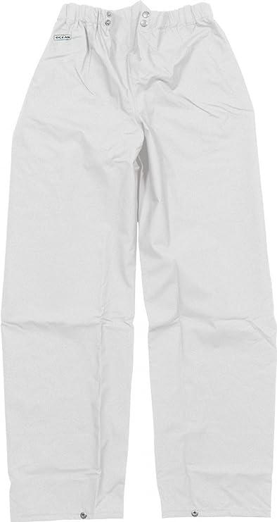 Farbe:Oliv Ocean Rainwear Damen Herren Regenhose Comfort Heavy Segelhose /Ölzeug Gr/ö/ße:XXL