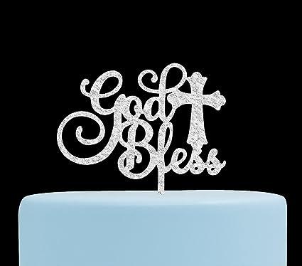 Amazon God Bless Acrylic Cake Topper For Baptism Christening