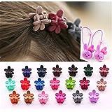 Cuhair Lot de 20mini-pinces à cheveux fleurs accessoires pour cheveux et franges