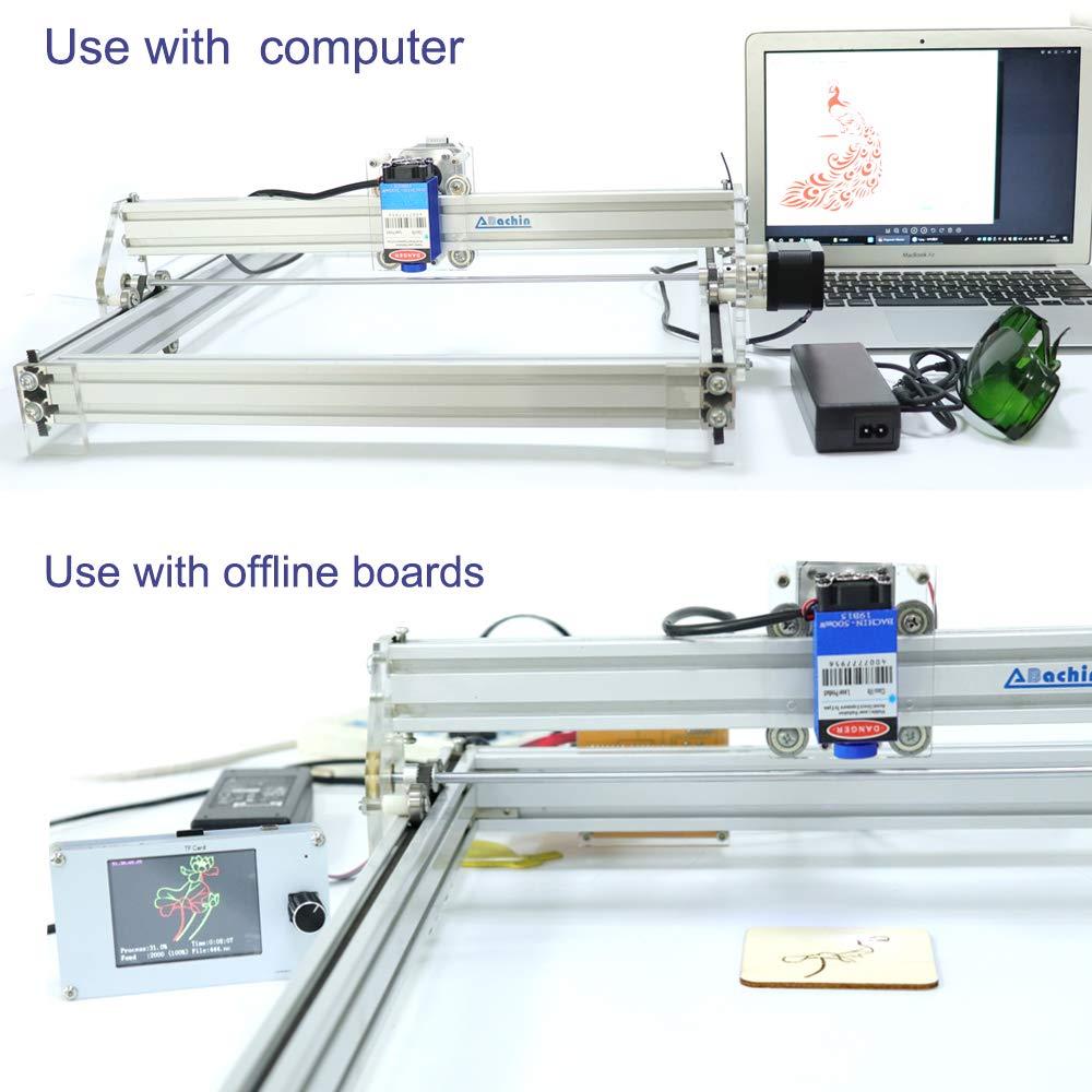 5,5 W TOPQSC 2,5 Watt 5,5 Watt 7 Watt Laserkopf Blaulichtmodul Diode F/ür CNC DIY Gravur Schneidemaschine 450nm Fokus Power DC 12 V mit Schutzbrille