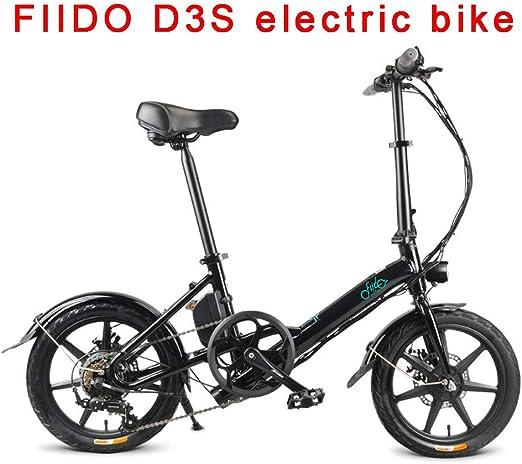 FIIDO Ebike Plegable con Amortiguador, Bicicletas Electricas con 7.8ah Litio Batería & 250w Motor, Montaña Bicicleta para Adultos Adultos Hombres Mujeres (Negro): Amazon.es: Deportes y aire libre