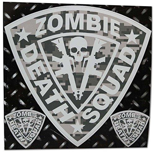 Zombie Death Squad Large AR15 ACU Digital Camo Decal Kit 3 Stickers