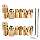 Muye 14PCS 0.5-3mm Electric Drill Bit Bit Collet Chuck Set Micro-Drill Bit Twist Brass Brass Micro Twist Drill Chuck With Allen Wrench (2.35mm 3.17mm)