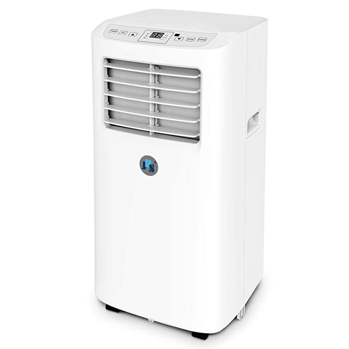 JHS 8,000 BTU Small Portable Air Conditioner AC Unit, Dehumidifier and Fan w/Remote Control, Digital LED Display, Rooms up to 170 Sq.Ft