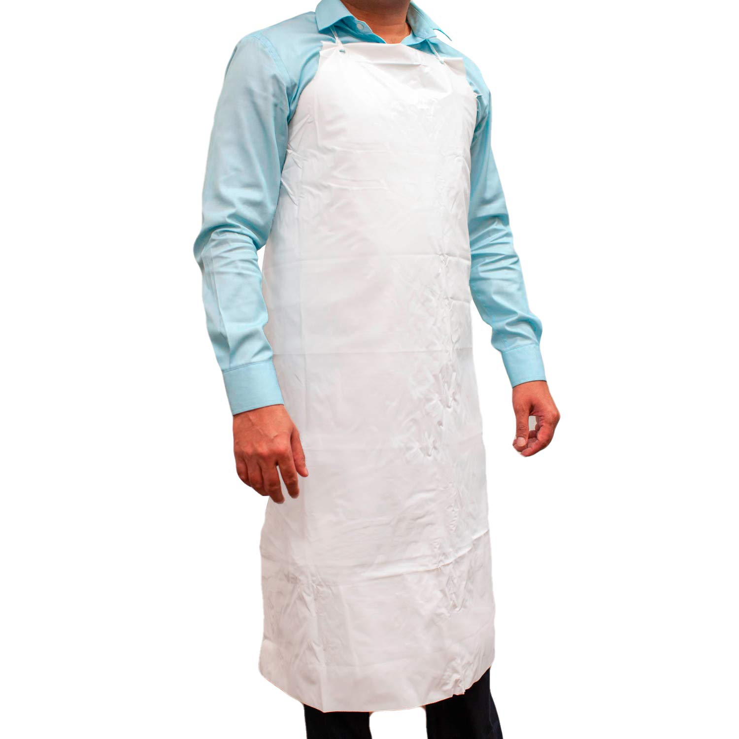 SAFE HANDLER PVC Apron   Smooth finish to Prevent Bacterial Growth, Comfortable, Easily Adjustable, Waterproof Material, WHITE (Case of 50) by Safe Handler (Image #2)