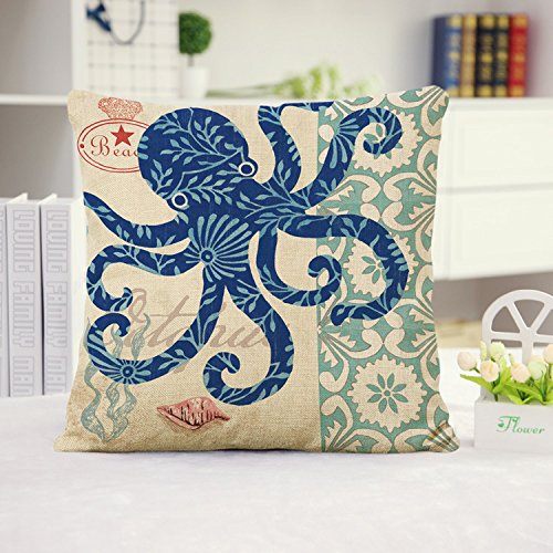 ocean-park-theme-throw-pillow-case-huacel-sea-turtle-octopus-fishes-retro-cotton-linen-square-throw-