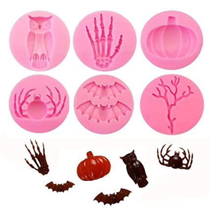 Mujiang Halloween Silicone Mold 3d Pumpkin Craft Art Soap Molds Resin Clay Candle Mould Diy Sugar Paste Chocolate Candy Moulds Pottery & Ceramics Home & Garden