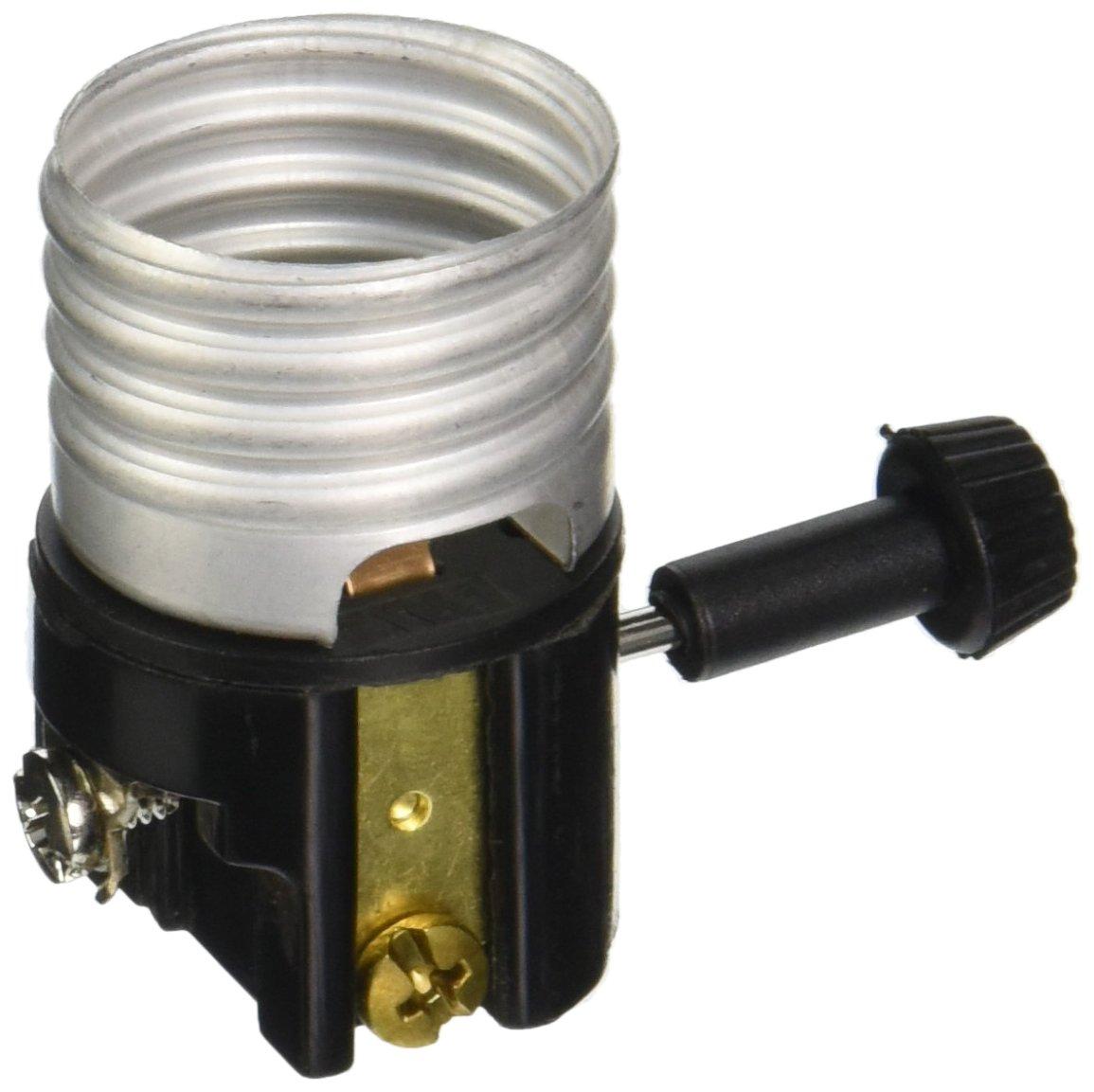 Pass /& Seymour 7090MBPCC5 3-Way Incandescent Turn Knob Metal Shell Lamp Holder Interior Socket 250V 250W