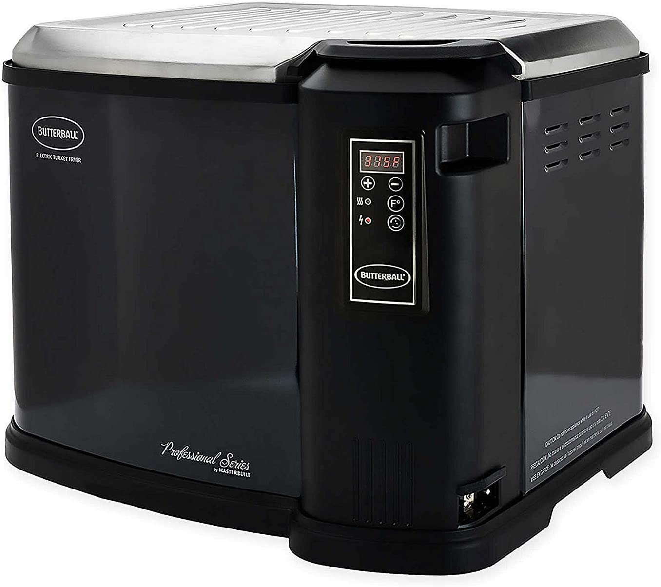 Butterball Masterbuilt MB23011818 XXL 1650W Indoor Digital Electric 22-Pound Turkey Fryer with Accessories, Black