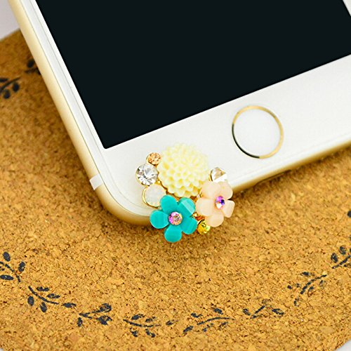 KASOS Dust Plug-Earphone Jack Accessories Bling Shiny Glitter Sparkle Diamonds Rhinestones Gems with Tassel/Cell Charms/Dust Plug/Ear Jack for iPhone 6S Plus, for Samsung Galaxy S10 Plus, for LG 3.5MM (Phone Charm Under $1)