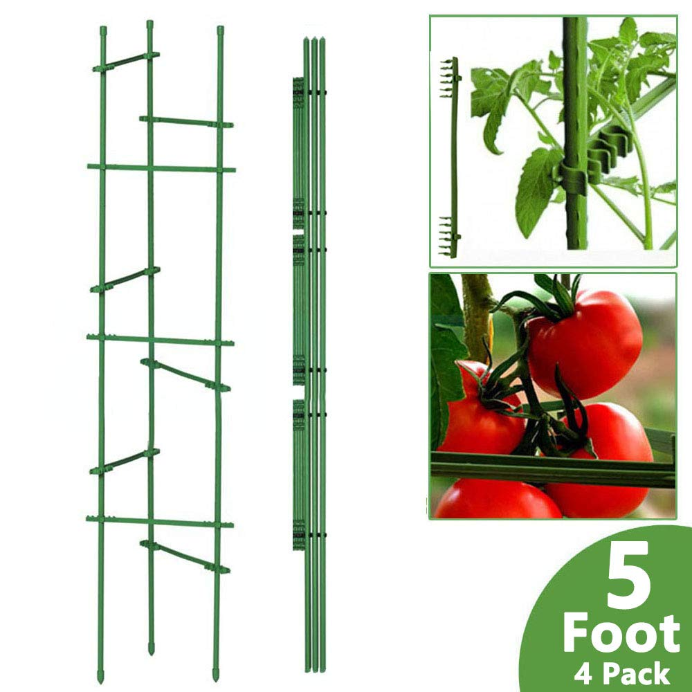 ZCINT 5 Ft-4 Pack Garden Tomato Cage and Support System for Growing Vegetables, Fruits or Other Climbing Plants