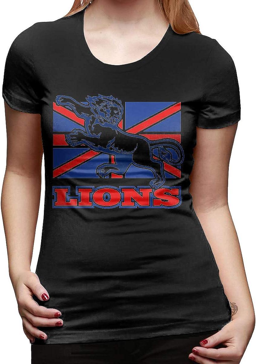 Smooffly Womens England British Lion Cotton Casual O-Neck Short Sleeve Tee