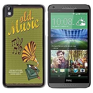 Dragon Case - FOR HTC DESIRE 816 - Music light life - Caja protectora de pl??stico duro de la cubierta Dise?¡Ào Slim Fit