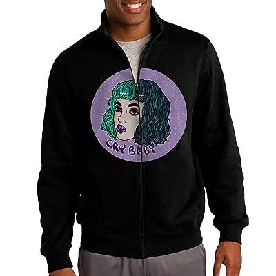 HEHE Men's Zip-up Jacket Hooded Sweatshirt Melanie Martinez Cry Baby Black