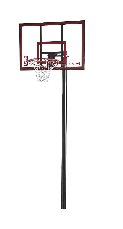 "Spalding NBA Ratchet Lift 44"" In-Ground Basketball Hoop"