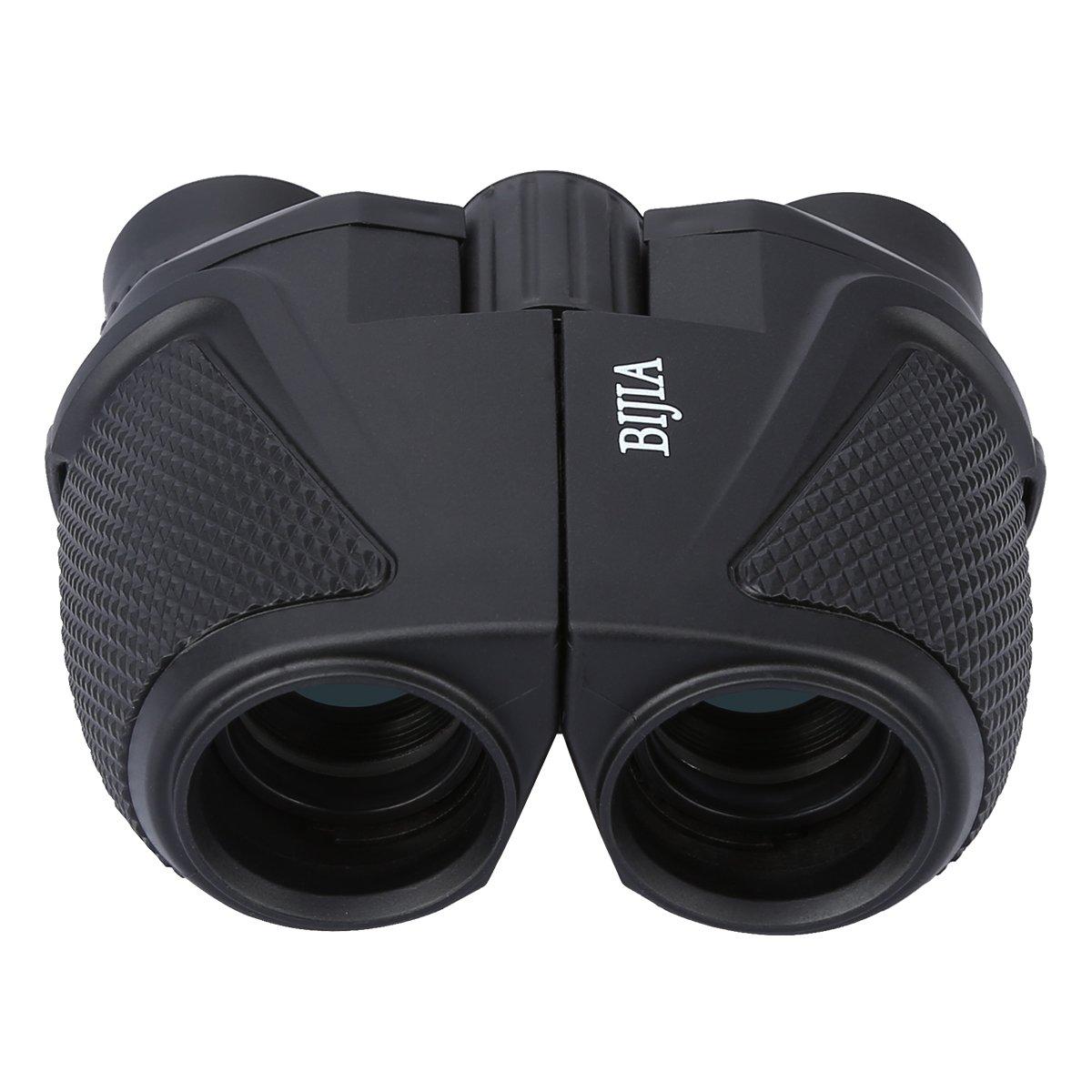 G4Free 12x25 Compact Binoculars(BAK4,Green Lens),Large Eyepiece Super High-Powered Field Surveillance Binoculars