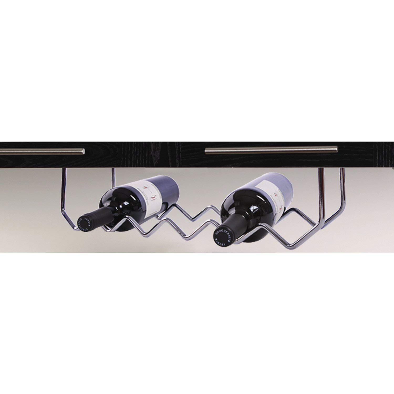 ItsUseful UH-BH184 Under Cabinet Wine Bottle Rack -Chrome Six Bottle Wine Rack