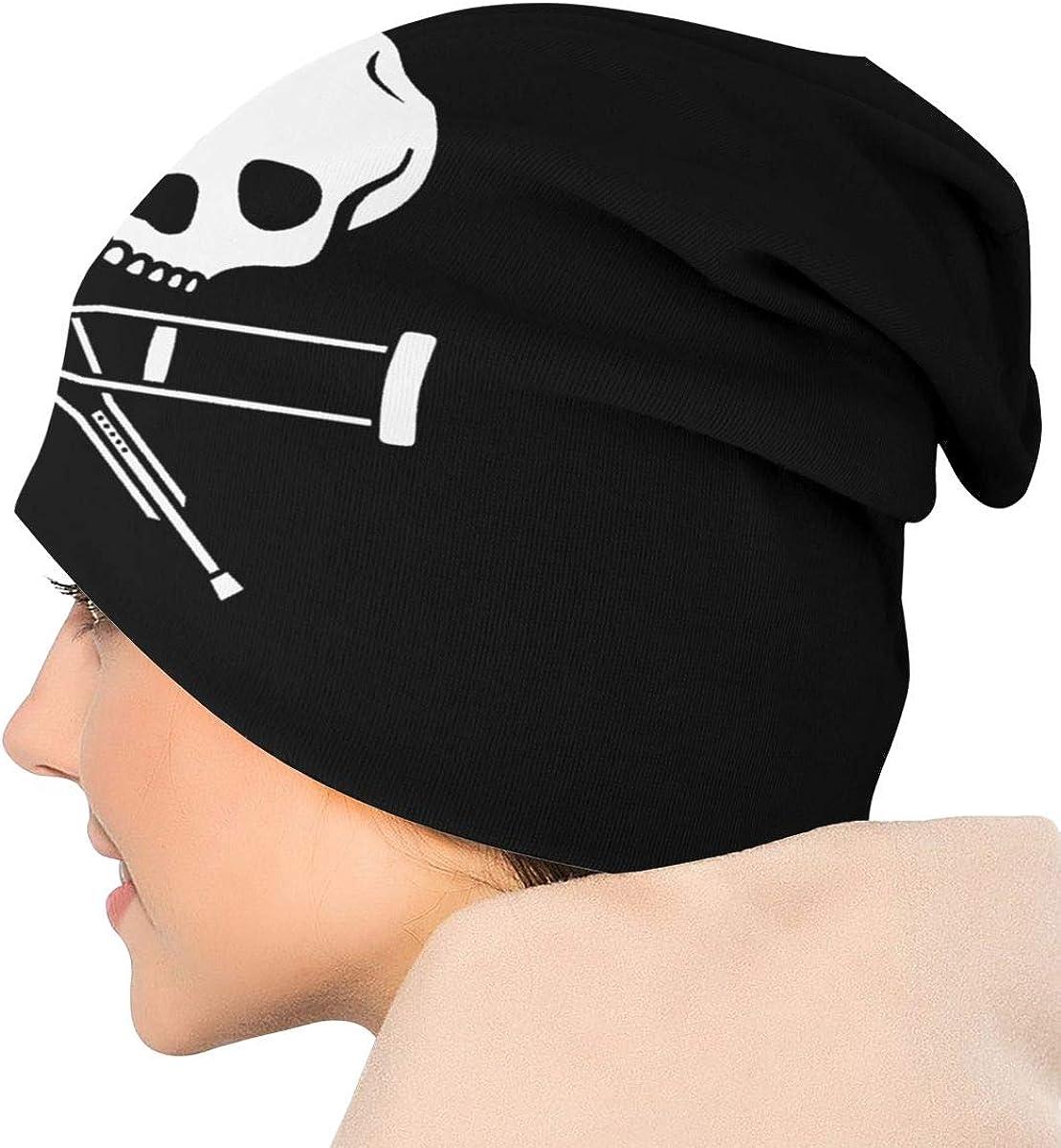 Veluccini Men//Women TV Series Jackass Beanie Hat Soft Warm Knit Skull Cap Black