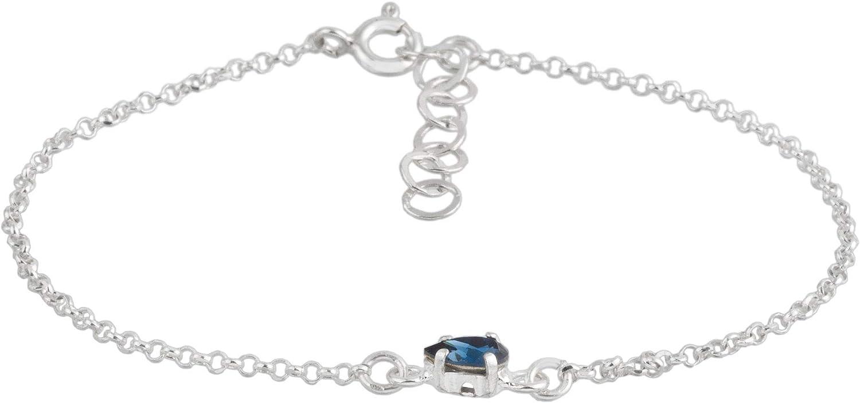Córdoba Jewels | Pulsera en Plata de Ley 925 con Cristales by Swarovski con diseño Gota Swarovski Montana Silver